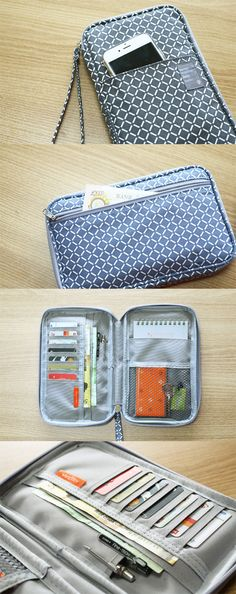 A super functional travel carry-all! On the outside the Better Together Daily Wallet looks like an unassuming (but cute) pouch. But open it up to find so much more! There are plenty of card slots and pockets to hold your pens, cash, hotel key, passport, p