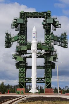 "Angara-1.2PP space rocket getting refueled at Russia's Plesetsk Cosmodrome. The test launch of an Angara space rocket automatically aborted due to ""technical issues,"" Russian officials said. While the second attempt is scheduled for Saturday, President Putin has ordered the reasons for the launch failure be detailed in one hour."