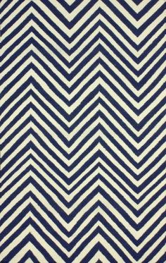 With the turquoise-ish walls Rugs USA Savanna Chevron RE19 Flatwoven Navy Blue Rug