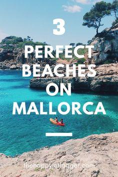 Three perfect beaches on the island of Majorca, Spain