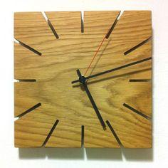 Handmade midcentury-style wooden clock by James Design