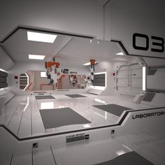 Image result for 3d spaceship interior