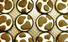 1 Dozen COW SPOTS Chocolate Covered Oreos -Birthday Baby Shower Party Favor Milk Cookies.