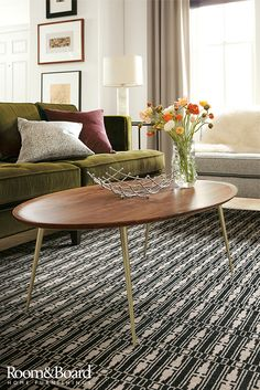 This beautiful, versatile cocktail table with a stunning mix of materials will look great in any living room. Click to shop this entire room.