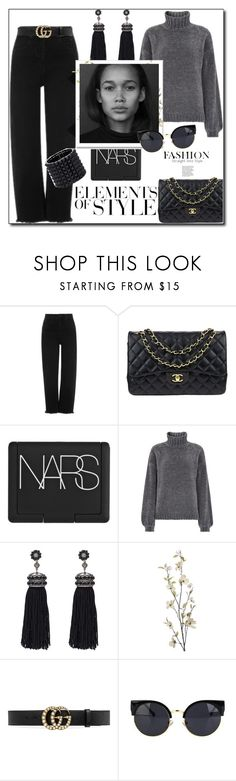 """""""I Can see right Through you!"""" by prettynposh2 ❤ liked on Polyvore featuring Chanel, NARS Cosmetics, Nush, Pier 1 Imports, Vera Wang, Gucci and Valentino"""