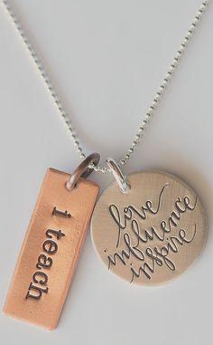 Love...Influence...Inspire - cute gift for a teacher