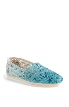 TOMS 'Classic - Dip-Dyed' Crochet Slip-On (Women) available at #Nordstrom