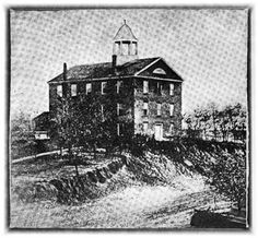 OLD STONE SCHOOL HOUSE in Grand Rapids, Michigan, Built 1849 - Torn Down 1868