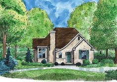 House Plan 95713 | Bungalow Cottage Craftsman Plan with 1621 Sq. Ft., 3 Bedrooms, 2 Bathrooms