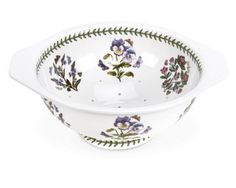 """Portmeirion Botanic Garden Colander 11.5"""" by Portmeirion, $69 holes seem too small, too much handling, may get chipped easily like the one for sale with big chip on base on ebay."""