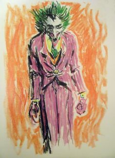 Tim Burton draws the Joker