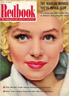 Redbook Magazine w/ Marilyn Monroe Cover 1955 The Marilyn Monroe You've Never Seen !