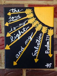 Bible Verse Psalm 27:1 by AshanArt on Etsy