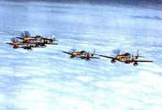 Several P51 Mustangs from the 361st fighter group