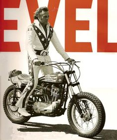 Good Old Days? Oh, Hell Yes! Fewer rules, fewer fences, fewer cars, fewer… Cool Motorcycles, Vintage Motorcycles, Evil Kenevil, Ex Machina, Motorcycle Art, Custom Bikes, Cool Bikes, Good Old, Bobber