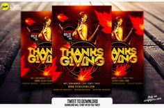 Free Thanksgiving Flyer Template | sickflyers.com