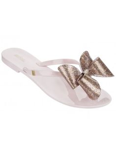 18204ce40 Harmonic Glitter Bow Candy Pink Melissa Shoes