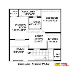 50 Gaj Area House Layout Plan Plan 1