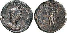 NumisBids: Numismatica Varesi s.a.s. Auction 65, Lot 217 : MACRINO (217-218) Sesterzio. D/ Busto laureato, e corazzato R/...