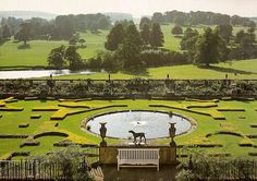 Chatsworth House, landscape by Capability Brown Landscape Architecture, Landscape Design, Garden Design, House Landscape, Parks, Baumgarten, Chatsworth House, Classic Garden, English Country Gardens