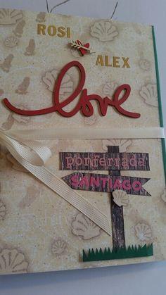 Álbum firmas, boda, wedding, scrap, scrapbook, camino de santiago, love, album, firmas