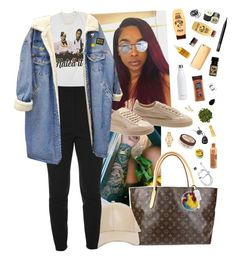 """Mar 4 "" by frezhstyle ❤ liked on Polyvore featuring Louis Vuitton, Movado, Jocelyn, Alexander McQueen, Puma, Sydney Evan, Palmer's, S'well, Kate Spade and Burt's Bees"
