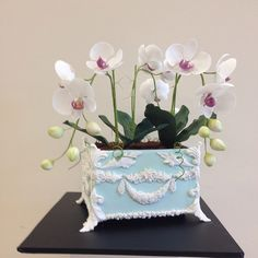 Orchid Planter Cake