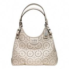 Summer Collection ~ Love this lace-inspired leather bag by Coach!