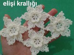 ÇITIR ÇITIR ÇİÇEKLİ ŞAL YAPILIŞI 🌼🌼 - YouTube Irish Crochet, Crochet Motif, Crochet Designs, Crochet Doilies, Crochet Flowers, Crochet Lace, Crochet Stitches, Crochet Patterns, Wedding Favors Cheap