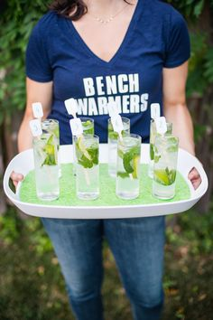 Draft day cocktails: http://www.stylemepretty.com/living/2015/09/08/ladies-fantasy-football-draft-inspiration/   Photography: Michelle Lindsay - http://michellelindsayphotography.com/