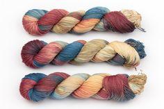 rust hand dyed yarn sock yarn fingering yarn by KnitCosmicStrings
