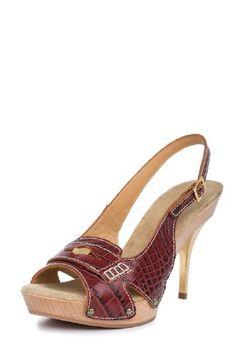 #sale Dsquared2 Women's Crocodile Print Leather Open-toe Slingback Pumps M Eu 39