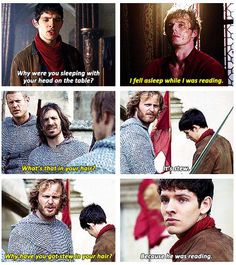Come on, Leon. (Merlin defends Arthur through sass- reasons why this show is the best) Colin Morgan, Merlin Funny, Merlin Memes, Merlin Merlin, Merlin Quotes, Sherlock Quotes, Bradley James, Merlin Fandom, Merlin
