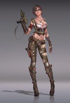 Bella concept art 【贰零壹贰】, - Ares - on ArtStation Character Design Cartoon, Fantasy Character Design, Character Design Inspiration, Character Concept, Character Art, Concept Art, Fantasy Female Warrior, Warrior Girl, Cyberpunk Character