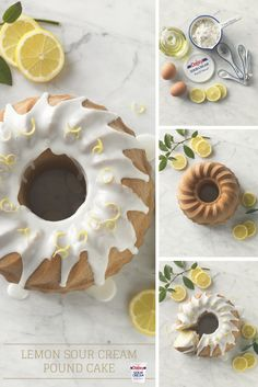Deliciously sweet and tart, this Lemon Sour Cream Pound Cake is perfect for any holiday gathering this season. Lemon Desserts, No Bake Desserts, Just Desserts, Delicious Desserts, Brownies, Daisy Sour Cream, Daisy Brand, Cake Recipes, Dessert Recipes