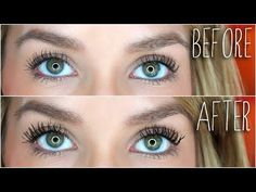 Younique 3D Fiber Lashes Mascara Before and After