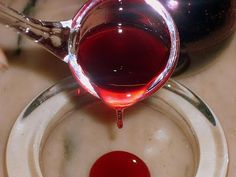 tachos de ensaio: Anardana, grenadine, melaço, chá e vinagre de romã