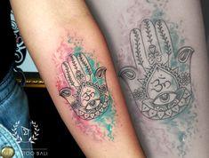 Watercolor Hamsa Hand Tattoo by: #Nova #MaTattooBali #WatercolorTattoo #HamsaHand #BaliTattooShop #BaliTattooParlor #BaliTattooStudio #BaliBestTattooArtist #BaliBestTattooShop #BestTattooArtist #BaliBestTattoo #BaliTattoo #BaliTattooArts #BaliBodyArts #BaliArts #BalineseArts #TattooinBali #TattooShop #TattooParlor #TattooInk #TattooMaster #InkMaster #AwardWinningArtist #Piercing #Tattoo #Tattoos #Tattooed #Tatts #TattooDesign #BaliTattooDesign #Ink #Inked #InkedBoy #Inkedmag #BestTattoo… Ma Tattoo, Tattoo Shop, Tattoo Studio, Piercing Tattoo, Hamsa Hand Tattoo, Hand Tattoos, Cool Tattoos, Tattoo Master, Ink Master