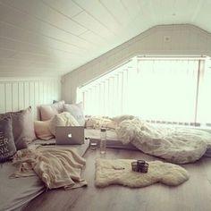 Cozy attic room.
