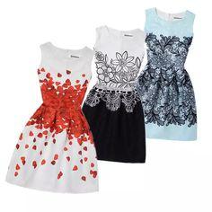4bd81497c4 Girls outfits · 2019 vestido de verano niñas Floral imprimir princesa  vestidos para 6 8 9 10 11 12