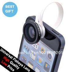 Circular clip 180 Detachable Fish Eye Fisheye Lens for iPhone 4S 4G 5G HTC One Samsung i9300 S4 S3 $14.99