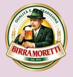Birra Moretti is a traditional Italian pale lager first produced in 1860 and hasn't changed since then. A wide range of hops are used to give the beer its Bad Logos, Vintage Italian Posters, Sous Bock, Brewery Logos, Beer Coasters, Beer Brands, Vintage Labels, Italian Style, Vintage Advertisements