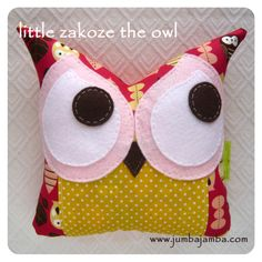 JumbaJamba Little Owl Pillow at www.jumbajamba.com