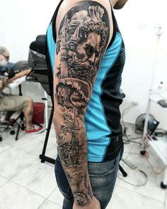 Poseidon neptune tattoo