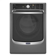 MGD7100DC in Metallic Slate by Maytag in Westwood, NJ - Maytag® Maxima® Steam Gas Dryer with Large Capacity and Stainless Steel Dryer Drum - 7.3 cu. ft. - Metallic Slate