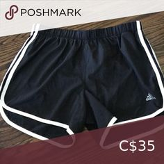 """Adidas S4"""" Running Climalite Shorts Adidas running shorts with 4"""" inseam and built in briefs. Worn only once. Size Small. adidas Shorts Athletic Shorts Pink Adidas, Black Adidas, Adidas Soccer Shorts, Shorts With Tights, Dark Blue Jeans, Running Shorts, Striped Shorts, Athletic Shorts, High Waisted Shorts"""