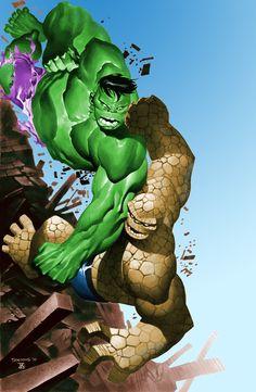 Hulk vs Thing by Chris Stevens, colours by Dar Til