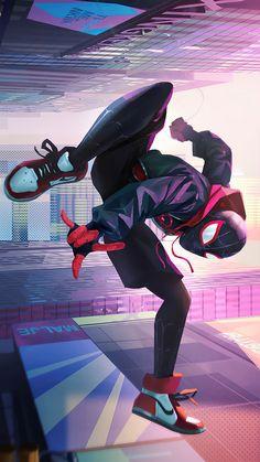 Marvel And Dc Superheroes, Marvel Art, Marvel Heroes, Black Spiderman, Amazing Spiderman, Spider Art, Spider Verse, Spaider Man, Hero Manga