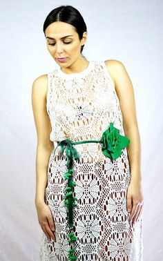 Fabric Waist BeltFlower BeltGreen Waist BeltBeaded Waist by KiZoy Flower Belt, Belts For Women, Fashion Accessories, Trending Outfits, Unique Jewelry, Green, Fabric, Etsy, Vintage