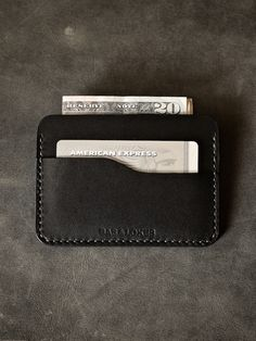 """Bas and Lokes Leather Goods - """"Ford"""" Black Handmade Leather Slim Wallet, $85.00 (http://www.basandlokes.com/ford-black-handmade-leather-slim-wallet/)"""